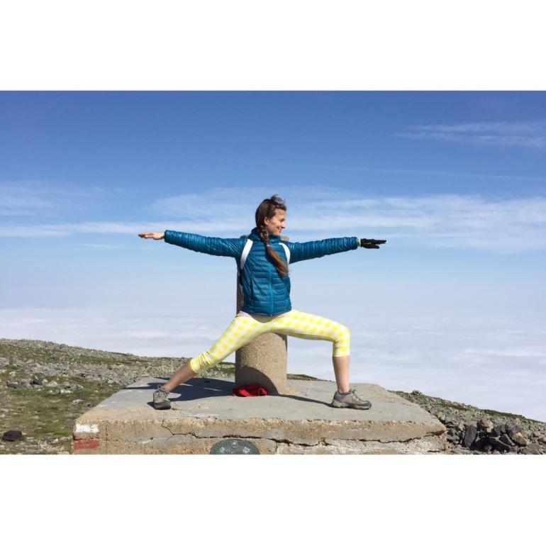 En la cima, foto yogui de rigor!